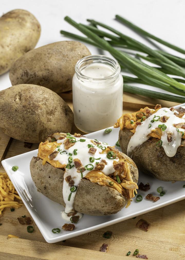 Buffalo-Ranch Loaded Idaho® Baked Potatoes