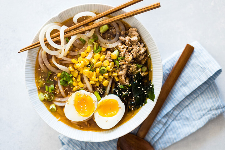Miso Ramen with Spiraled Idaho® Potatoes