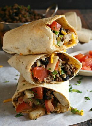 Tex-Mex Idaho® Potato and Beef Burritos