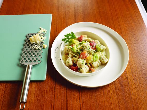 Potato Gnocchi With Heirloom Tomato And Ricotta