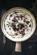 Pecorino Pancetta Garlic Mashed Potatoes