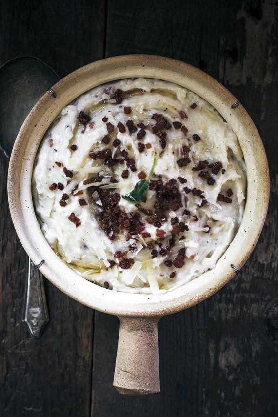 Pecorino Pancetta Garlic Mashed Potatoes