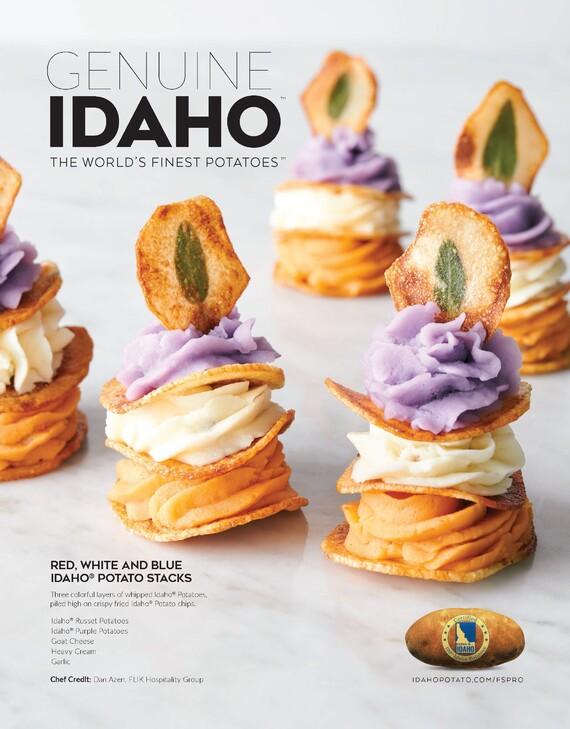 Red, White and Blue Idaho® Potato Stacks
