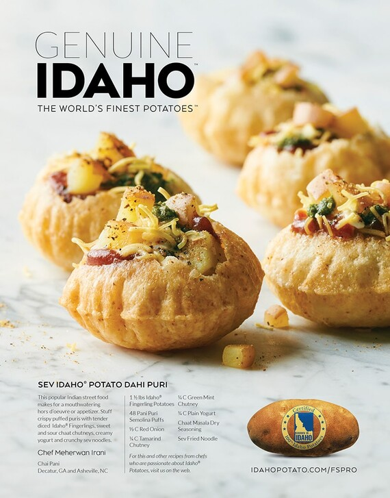 Sev Idaho® Potato Dahi Puri