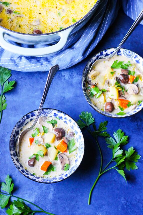 Polish Mushroom Soup with Potatoes