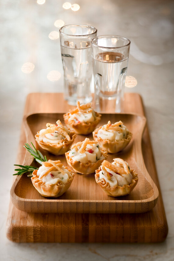 Fresh Gourmet® Crispy Onion, Rosemary and Idaho® Mashed Potato Bites