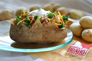 Baked Idaho® Potato With Broccoli and Salsa
