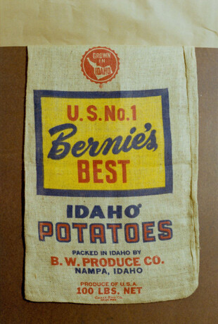 Idaho Burlap bag designs from the 1950's and 1960's.