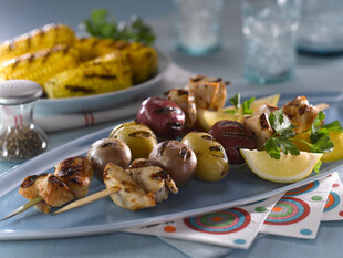 Heart-Healthy Idaho® Potato and Chicken Skewers