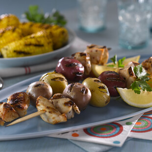 Heart-Healthy Idaho® Potato and Chicken Skewers