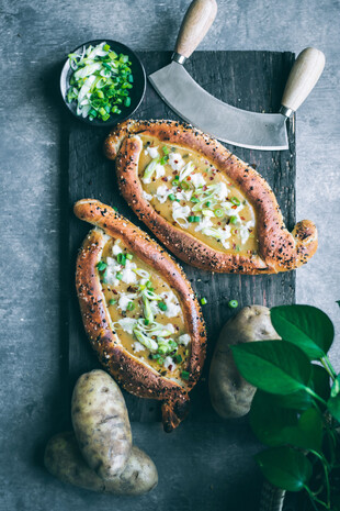 Vegan Khachapuri (Cheese Bread)