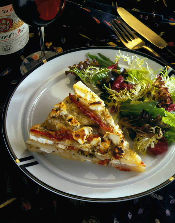 Idaho® Potato Galette with Roasted Pepper & Cheese