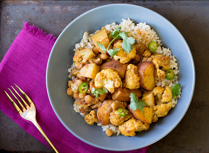 Chickpea, Idaho® Potato and Cauliflower Curry