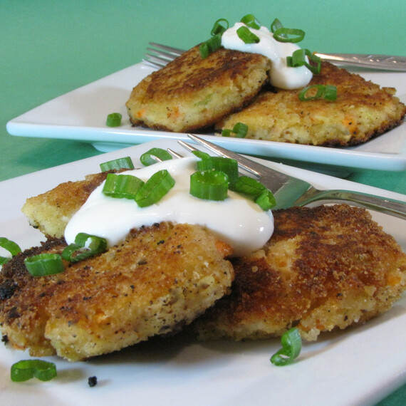 Mini Idaho® Potato & Salmon Pancakes