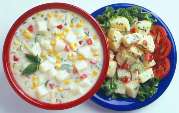 Old-Fashioned Idaho® Potato Salad and Idaho® Potato Chowder