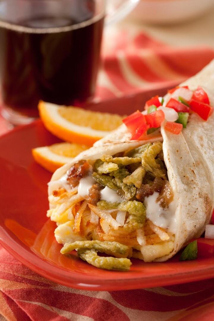 Ana's Giant Breakfast Burrito