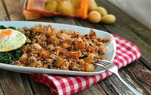 Salmon & Shiitake Idaho® Potato Hash