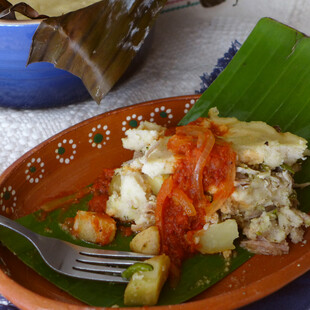 Idaho® Potato and Pork Tamal de Cazuela (Tamale Casserole)