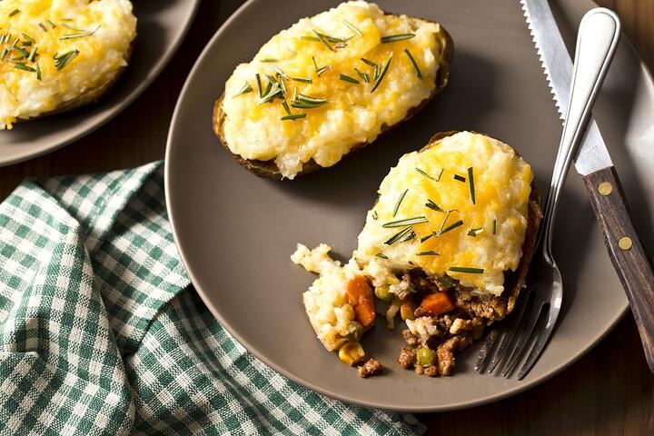 Shepherd's Pie Twice Baked Potatoes
