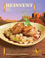 """Idaho® Potato Wrapped Sea Scallops on Potato """"Risotto"""" with Red Wine Drizzle"""