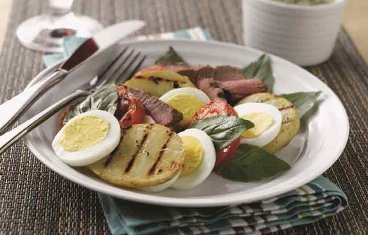 Grilled Steak and Yukon Gold Idaho® Potato Salad