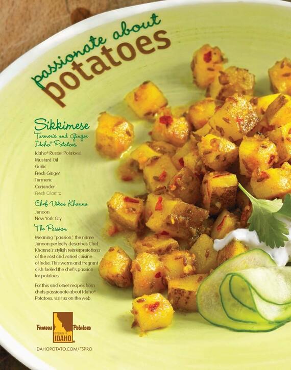 Sikkimese Tumeric and Ginger Idaho® Potatoes