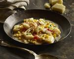 Louisiana Crab, Corn and Tomato Gnocchi with Pork and Parmesan Beurre Monté