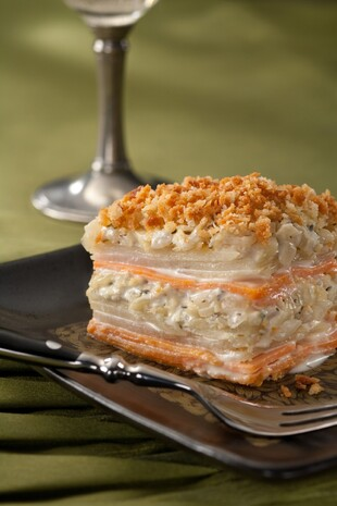 Idaho® Potato and Yam Gratin