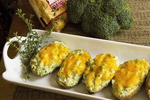 Broccoli Baked Potatoes