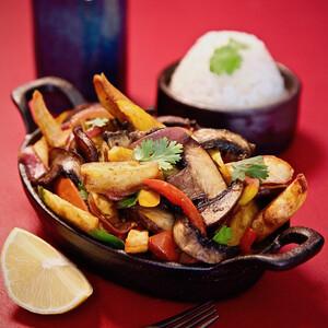 Idaho® Potato and Mushroom Saltado