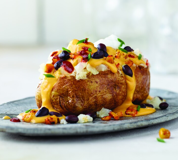Overloaded Vegan Baked Potato