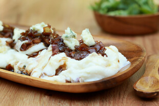 Mashed Idaho® Potatoes with Sweet Balsamic Onion Topper