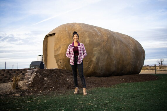 Potato Hotel With Kristie In Front