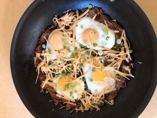 Russet Idaho® Potato Rosti with Cholula® Hollandaise