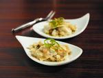 Baked Potato Creme Fraiche Agnolotti, Potato Brown Butter, Pancetta, Truffle Essence