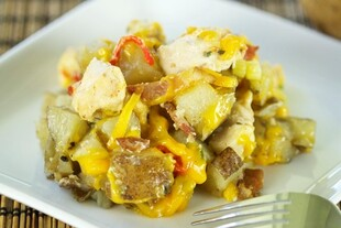 Loaded Idaho® Potato Chicken Casserole Dutch Oven