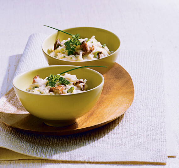 Idaho® Potato Risotto with Micro-herb Salad