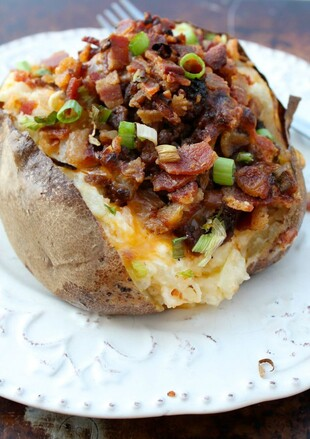 Bacon Cheese Burger Twice Baked Idaho® Potatoes