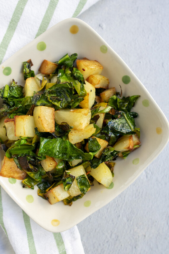 Blitva: Croatian-Style Greens and Potatoes
