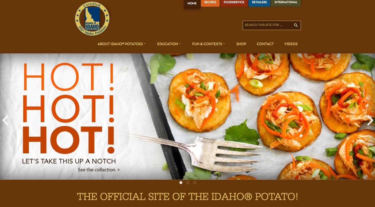 The new IPC website, www.idahopotato.com makes it easier to share recipes across popular social media platforms such as Facebook, Pinterest, Twitter and Instagram