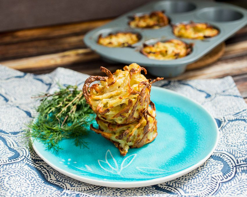 Spiralized Idaho® Potato and Fennel Kugel